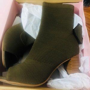 Olive Green Sock Booties